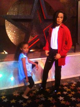 Isabella and the legendary Michael Jackson, Travel Mom - April 2012