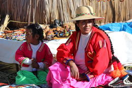 Photo of Puno Uros and Taquile Islands Day Trip from Puno Mother and Daughter