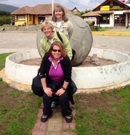 Standing on the equator , Nancy B - March 2014