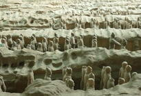 Photo of Xian Xian and the Terra Cotta Warriors and Hourses