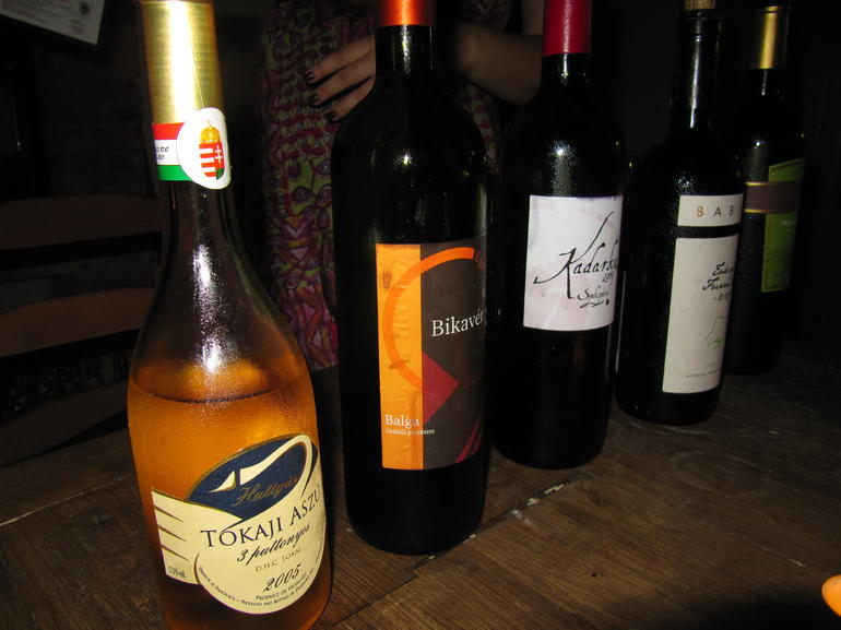 Wines from the tasting, Budapest