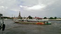 Boat ride to the first major attraction of the tour , Marinos - August 2014