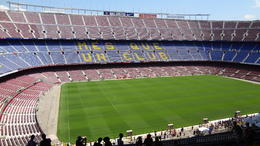 inside stadium sight of Camp Nou , Robert v - August 2014