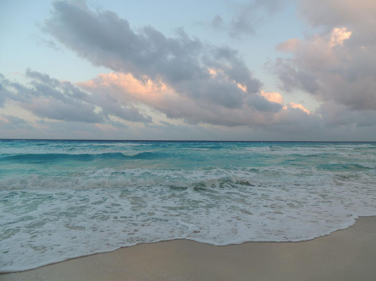 The final destination - the beaches of Cancun.