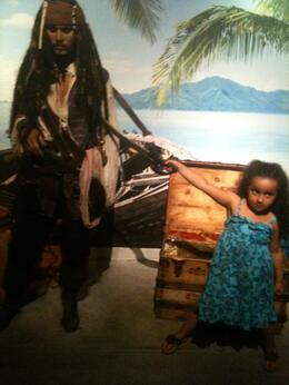 Sophia and the Captain!, Travel Mom - April 2012