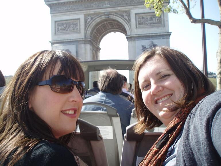 From the top deck of the bus in the sunshine - Paris