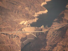 The pilots pointed out Hoover Dam on the way to the Grand Canyon. , Sue - December 2012