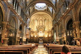 Photo of Barcelona Montserrat Royal Basilica Half-Day Trip from Barcelona Interior of church