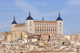 Old town of Toledo, beside the Tagus River, former capital of Spain - May 2011