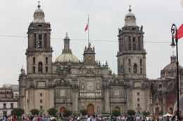 View of the Mexico City Cathedral in Zocalo (main square)., Bandit - September 2012