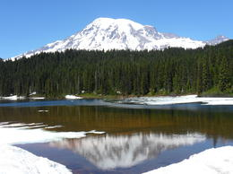 Photo of Seattle Mt Rainier Day Tour from Seattle Mt. Rainier mirroring impressions
