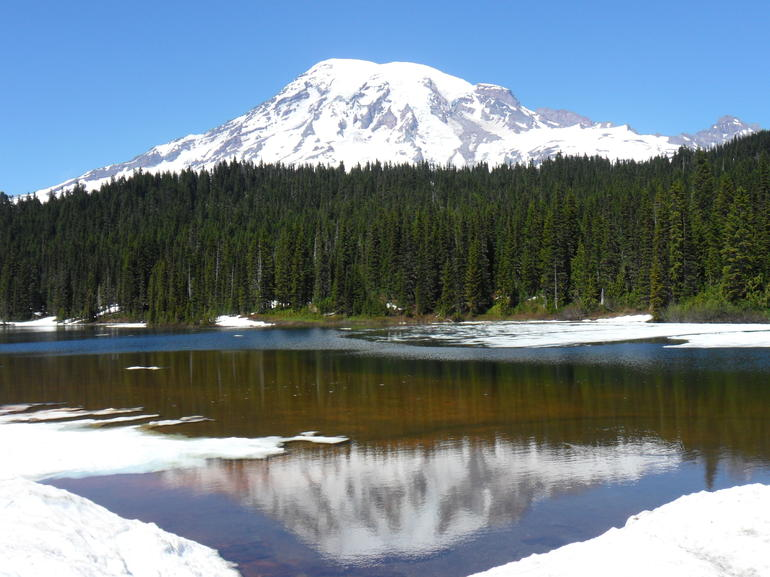 Mt. Rainier mirroring impressions - Seattle