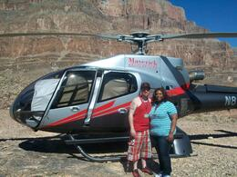 Photo of Las Vegas Deluxe Grand Canyon West Rim Airplane Tour with Optional Helicopter Tour Next to our helicopteer