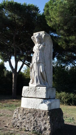 Nike statue. There were several statues and old marble pillars everywhere. , Joseph W - January 2011