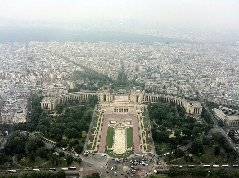 Palais Chailot View from Eiffel Tower Summit - Paris