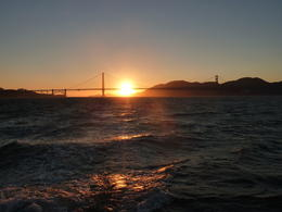 Photo of San Francisco San Francisco Bay Sunset Catamaran Cruise Sunset  and  The Golden Gate Bridge
