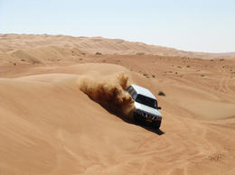 Photo of Muscat Private 4x4 Desert and Wadi Safari - Wahiba and Wadi Bani Khalid 4WD Adventure