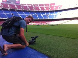 On the field!, Ryan & Asha - September 2012