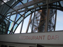Dinner at Restaurant on the Eiffel Tower , Tania P - October 2012