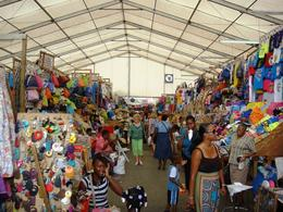 Colorful, yet chaotic, Straw Market , Leah - July 2011