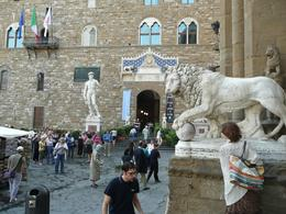 More statues in front of the Palazzo Vecchio, Philippa Burne - July 2011