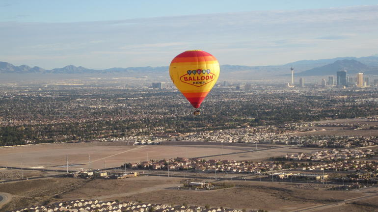 Our hot air balloon trip - Las Vegas