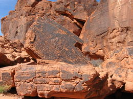 Photo of Las Vegas Valley of Fire Luxury Tour Trekker Excursion Petroglyphs