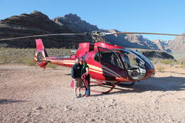 Jennifer and I on our visit to the Grand Canyon Via Helicopter. Pilot was a great photographer!! , stevekayyeah - April 2013