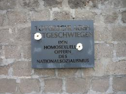 It was so emotional to see this sign particularly from the perspective that despite the fact that 200,000 gays were harassed, arrested, tortured between 1934 and 1945 and up to 15,000 murdered, many ... , Carl M - September 2010