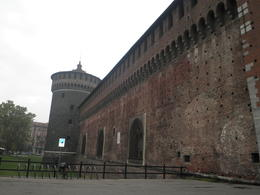 A viiew of the Sforza Castle, which was part of the tour and very interesting! , Anthony F - October 2013