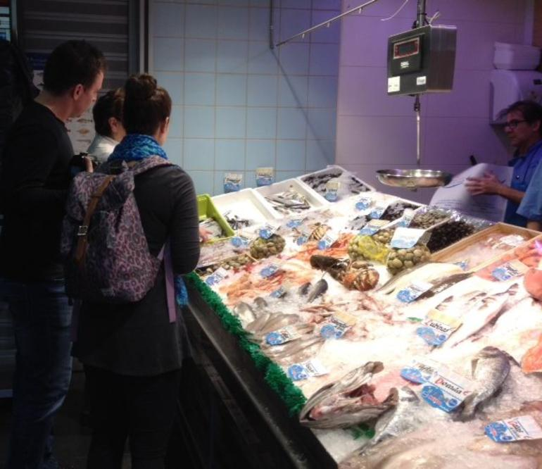 Shopping for seafood - Madrid