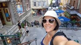Bronwyn Neeson who recently went on a Viator 1 day tour to Quebec city, adventuring through the historical streets of the city and totally loving it. You can't wipe the smile from her face. , Bronwyn N - August 2013