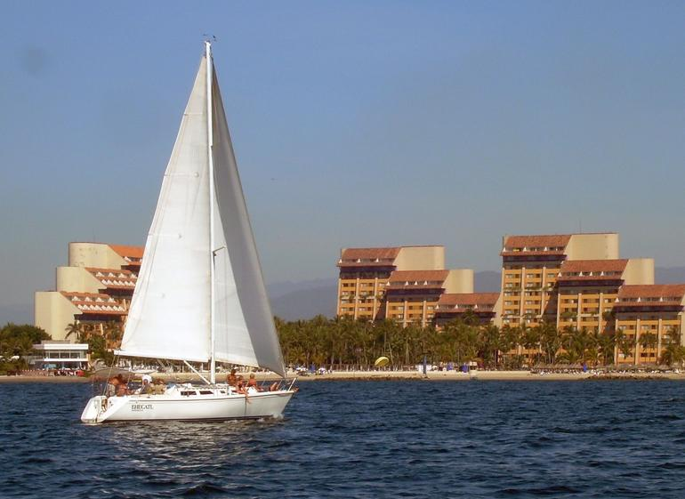 The other boat and the Westin / Club Regina, Banderas Bay - Puerto Vallarta