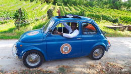 Photo of Florence Self-Drive Vintage Fiat 500 Tour from Florence: Tuscan Wine Experience Anthony in his blue Fiat500