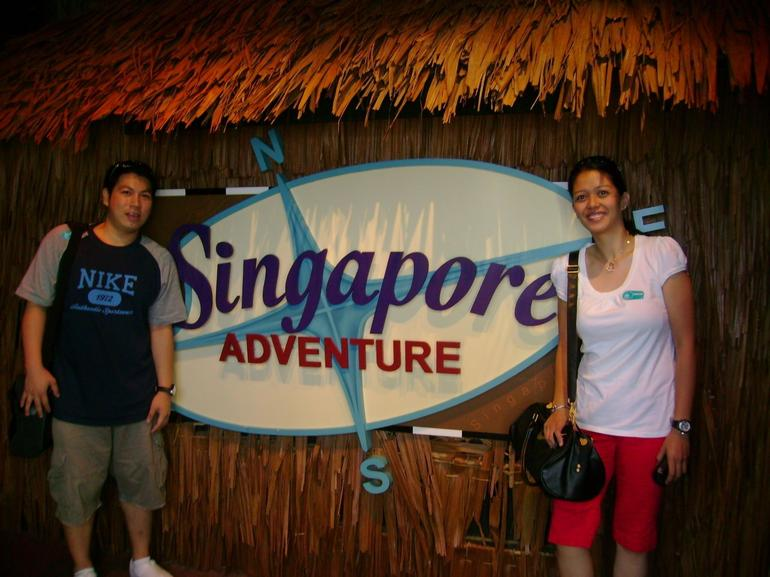 Away from work, ready to face the adventures in store for us! =) - Singapore