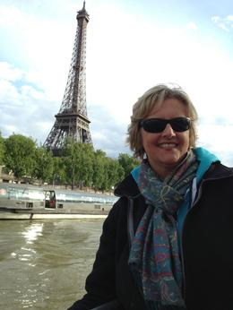 Cyndi at Eiffel, just missed the rain. Thank goodness, this is a site to behold! , Cynthia R - June 2013