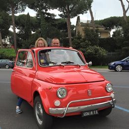 Photo of Rome Ghost and Mystery Walking Tour of Rome Fiat 500 Convoy