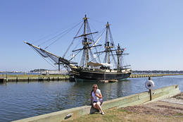 'Friendship of Salem' tall ship taken on a bright sunny day in Salem harbour. , Edward G - September 2014