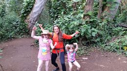 Our two daughters going native with Michelle, our guide. They caught the island fever! , Chris M - April 2016