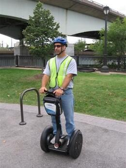 Photo of   Hubby On Segway