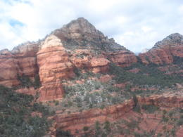 A view of the red rocks and canyons on helicopter ride. , Howard F - April 2012