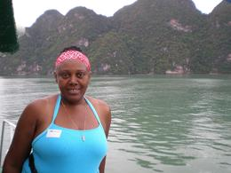 This is a picture of myself as we were touring the island on the ferry boat .The scenery was beautiful and the tour guide explained each and every detail to us. Great trip, lovely staff. In addition ... , Keturah H - August 2008