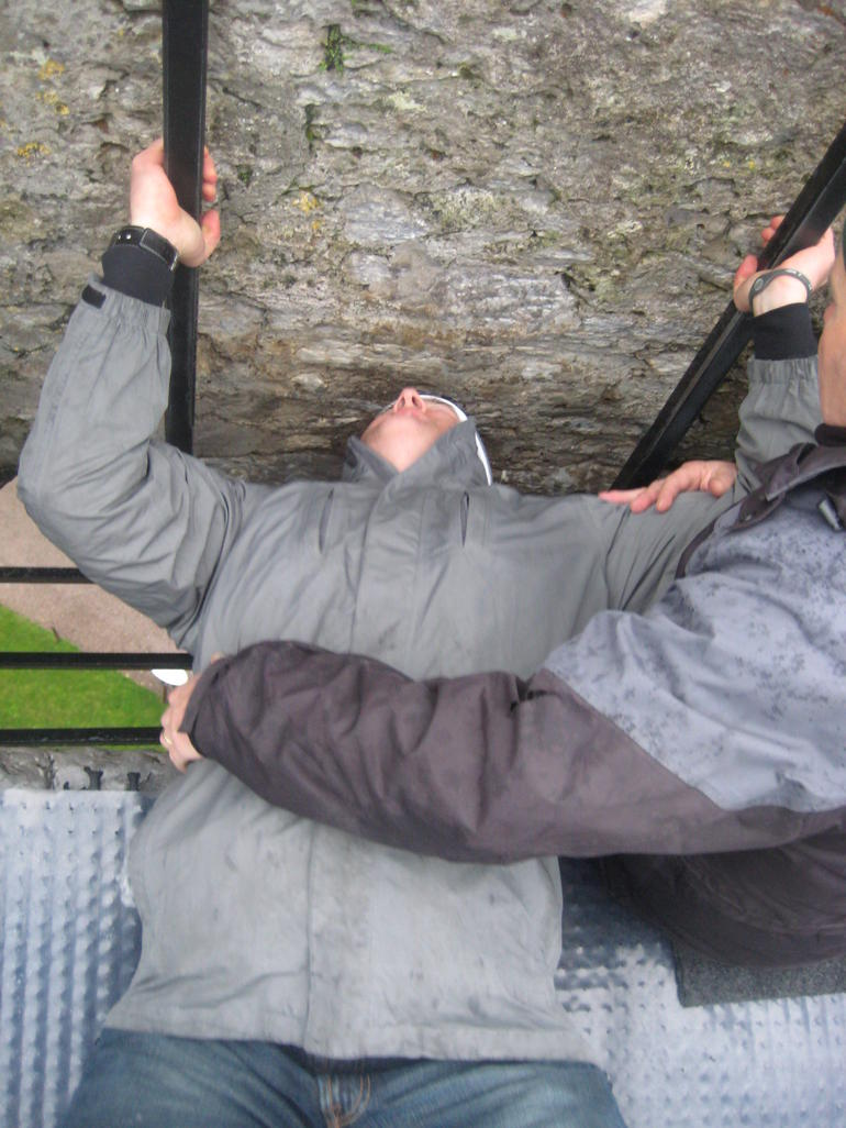 Kissing the Blarney Stone - Dublin