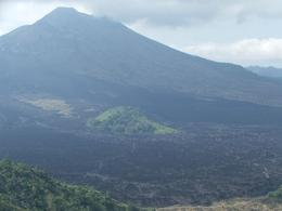 Here is a great view of the volcano, which last erupted in approximately 1994. All of the black on the mountain is hardened lava. It's pretty amazing there is a patch of green left in the middle!, Gail F - July 2009