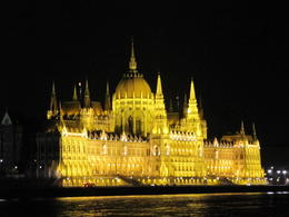 Parliament Building at night from Danube Cruise, David W - September 2011