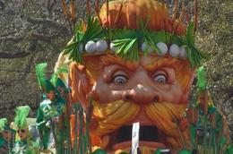Photo of New Orleans Viator Exclusive: Mardi Gras Parade Premium Viewing Stands Redhead guy float.jpg