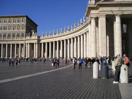 This is a view of the columns outside The Vatican in St Peter's Square., Janice L - November 2008