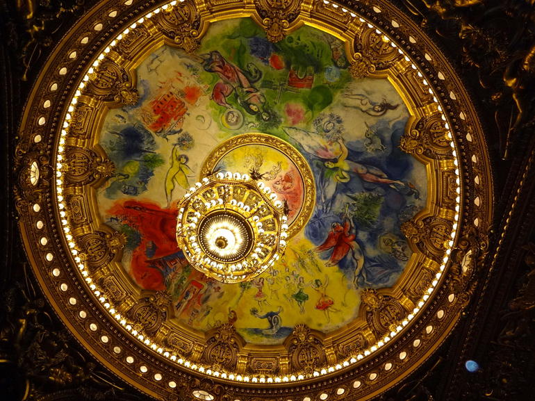 The ceiling of the opera house. - Paris