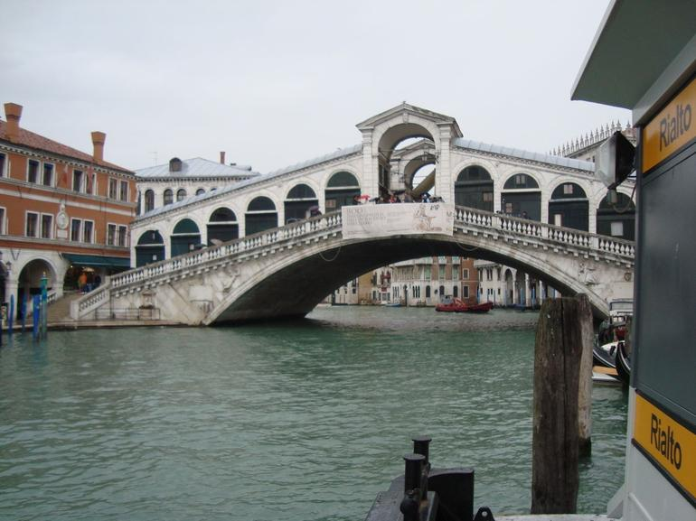 Walkway over the grand canal. - Venice