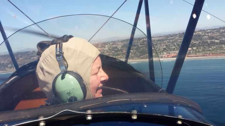 Me. Flying. In a biplane.